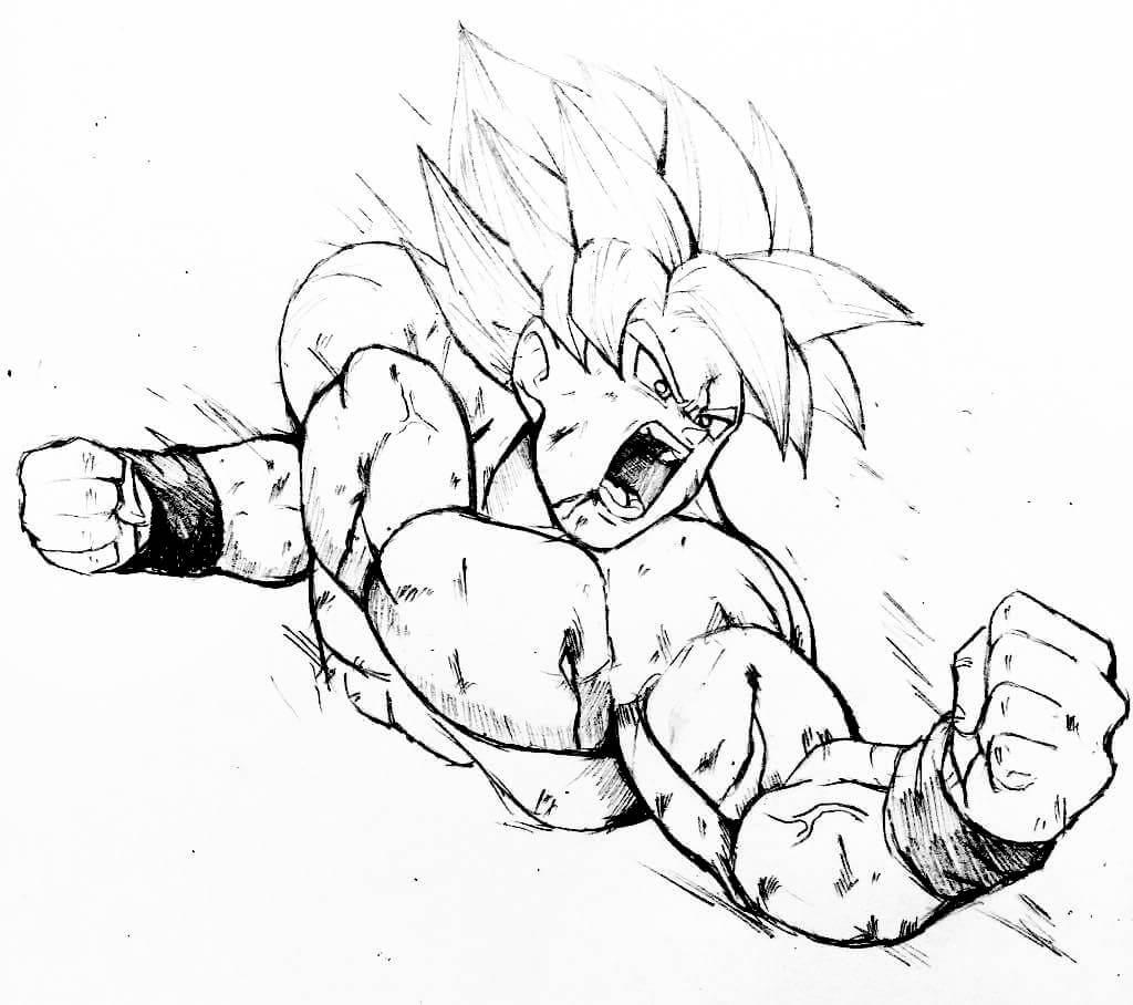 dibujos a blanco y negro de goku