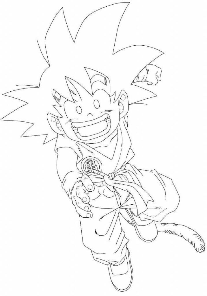 dibujos chidos de goku