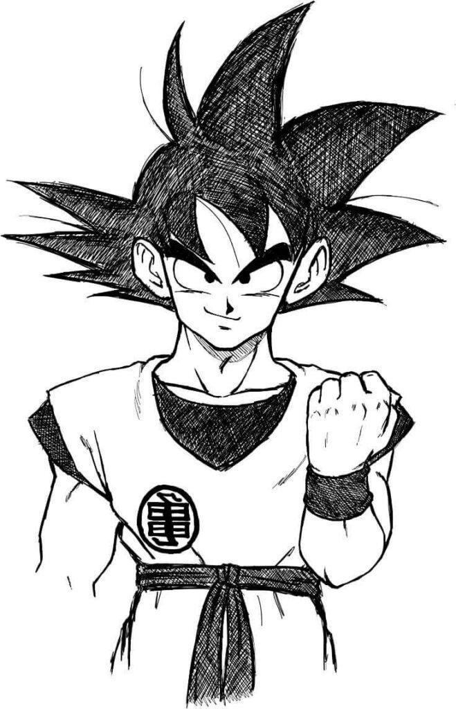 dibujos colorear goku