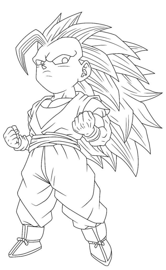 dibujos de anime goku