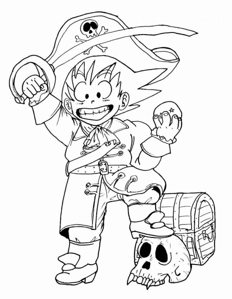 dibujos de dragon ball z de goku