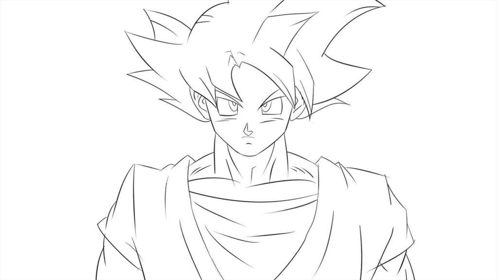 dibujos de goku chidos