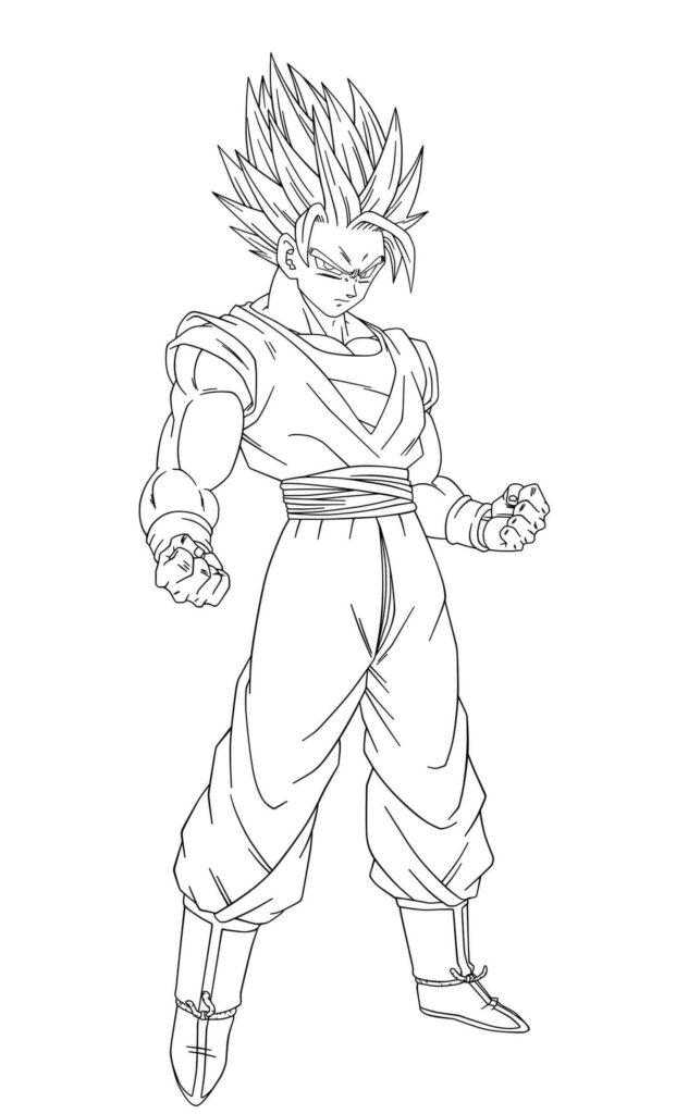 dibujos de goku cuerpo completo