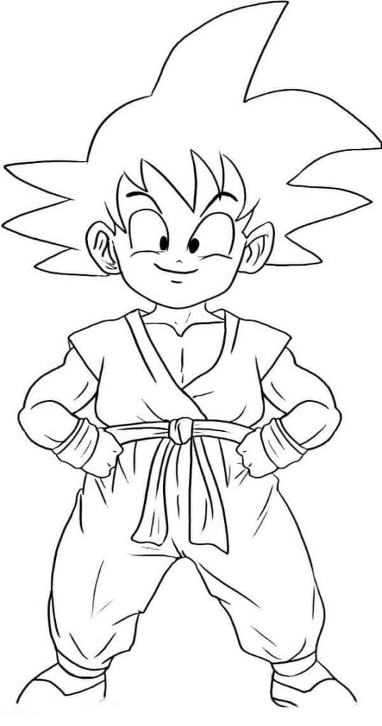 dibujos de goku dificiles