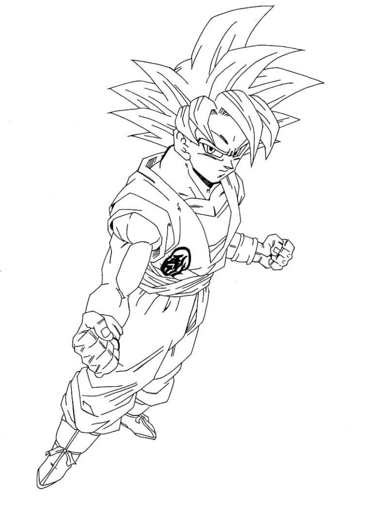 dibujos de goku peleando
