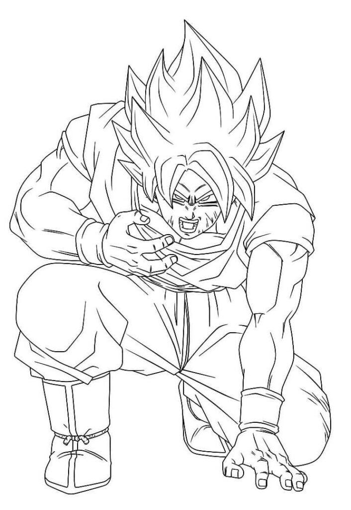 dibujos de para colorear de goku