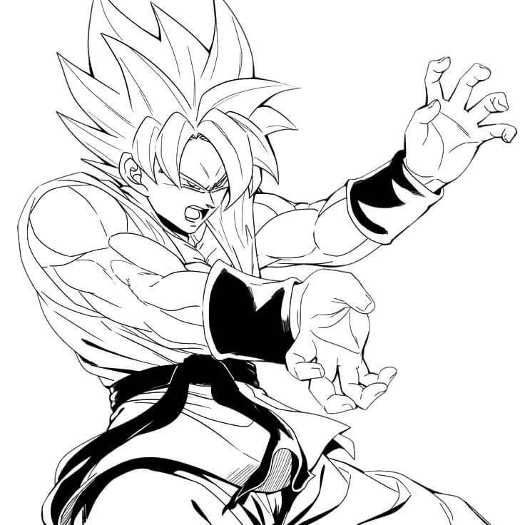 dibujos dificiles de goku