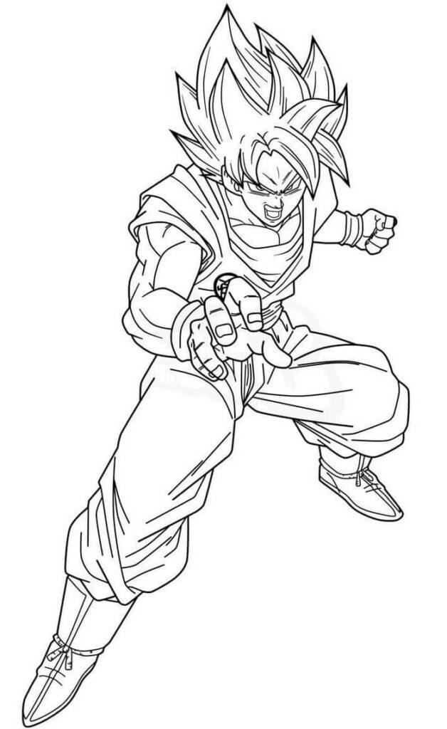 dibujos para colorear de son goku