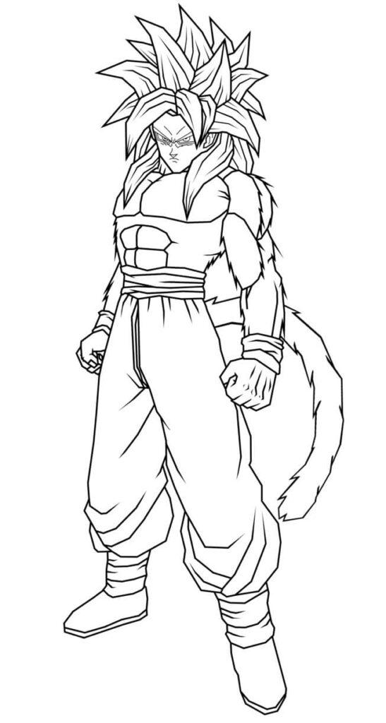 dibujos para colorear goku