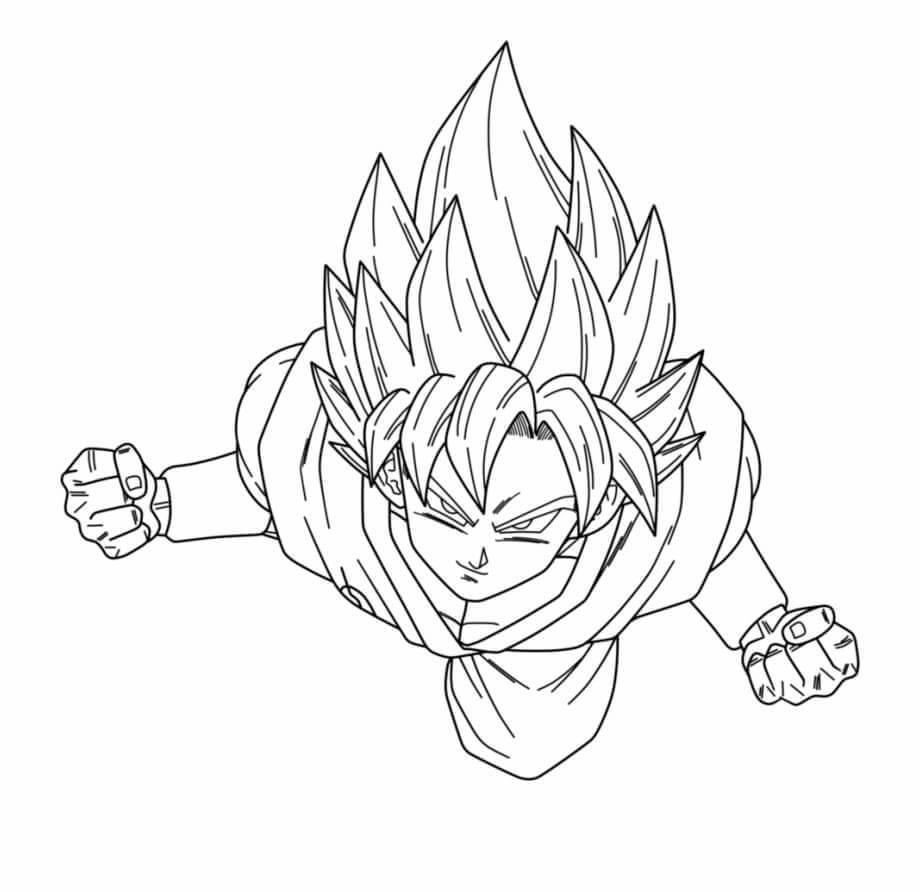 dibujos para dibujar de goku