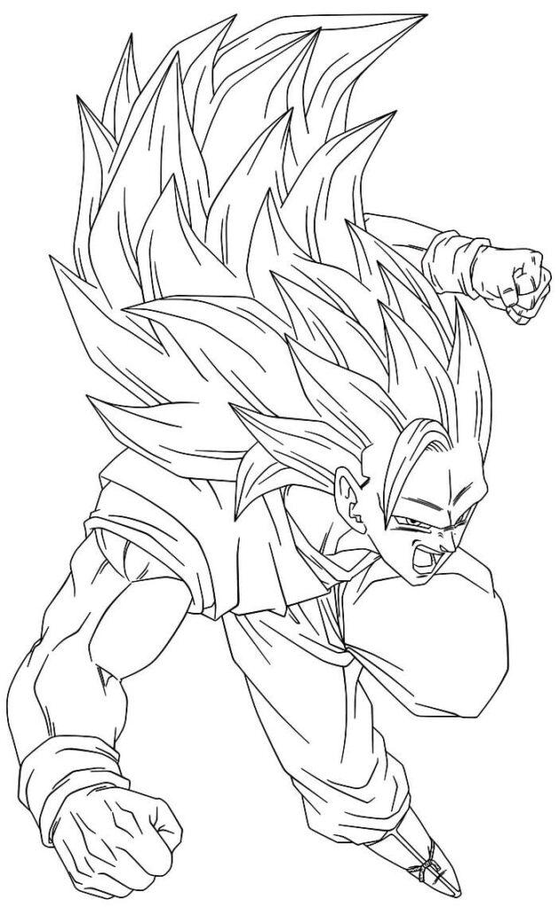 dibujos para iluminar de goku