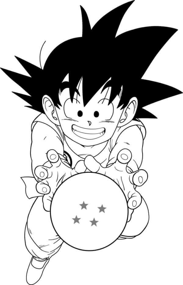 dibujos para pintar de goku