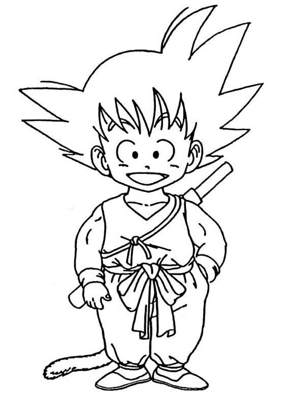 dragon ball goku dibujos