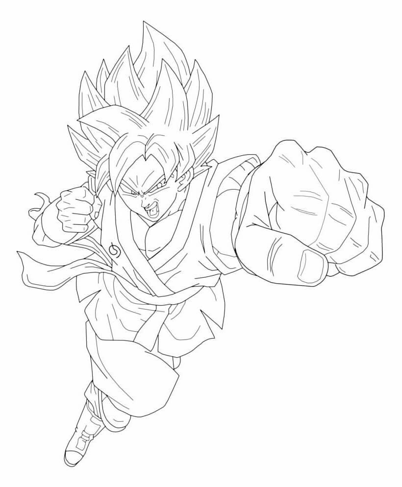 goku cuerpo completo para dibujar