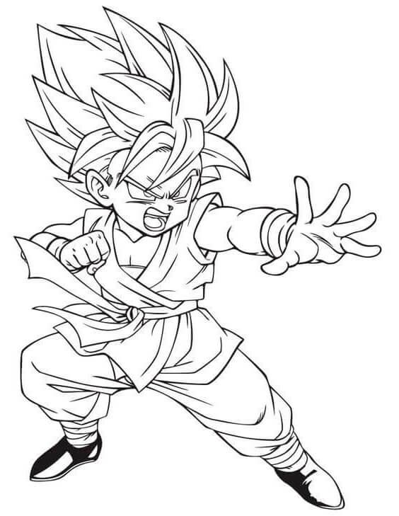 imagen de goku para colorear