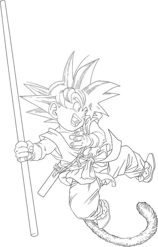 imagen de goku para dibujar