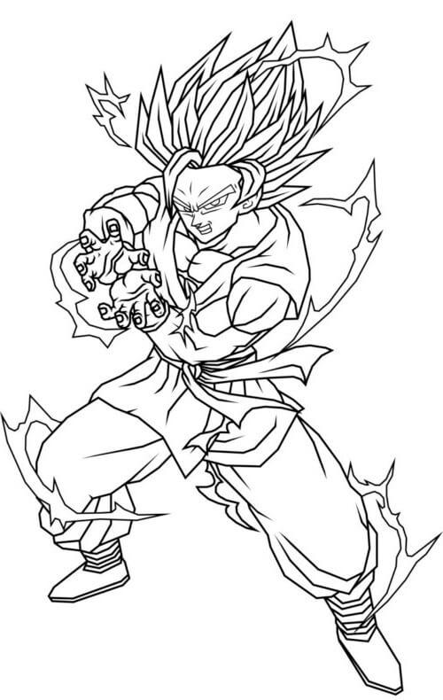 imagenes de goku dibujado