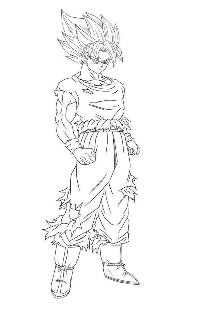 imagenes de goku dibujos