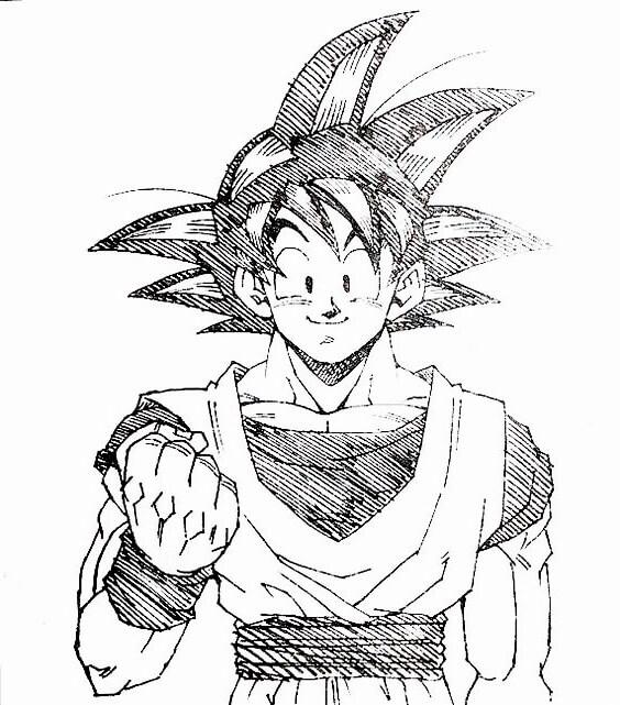 imagenes de para dibujar de goku