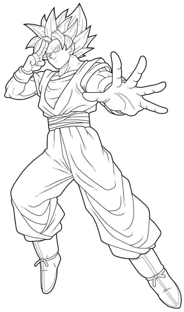 imagenes para colorear de goku