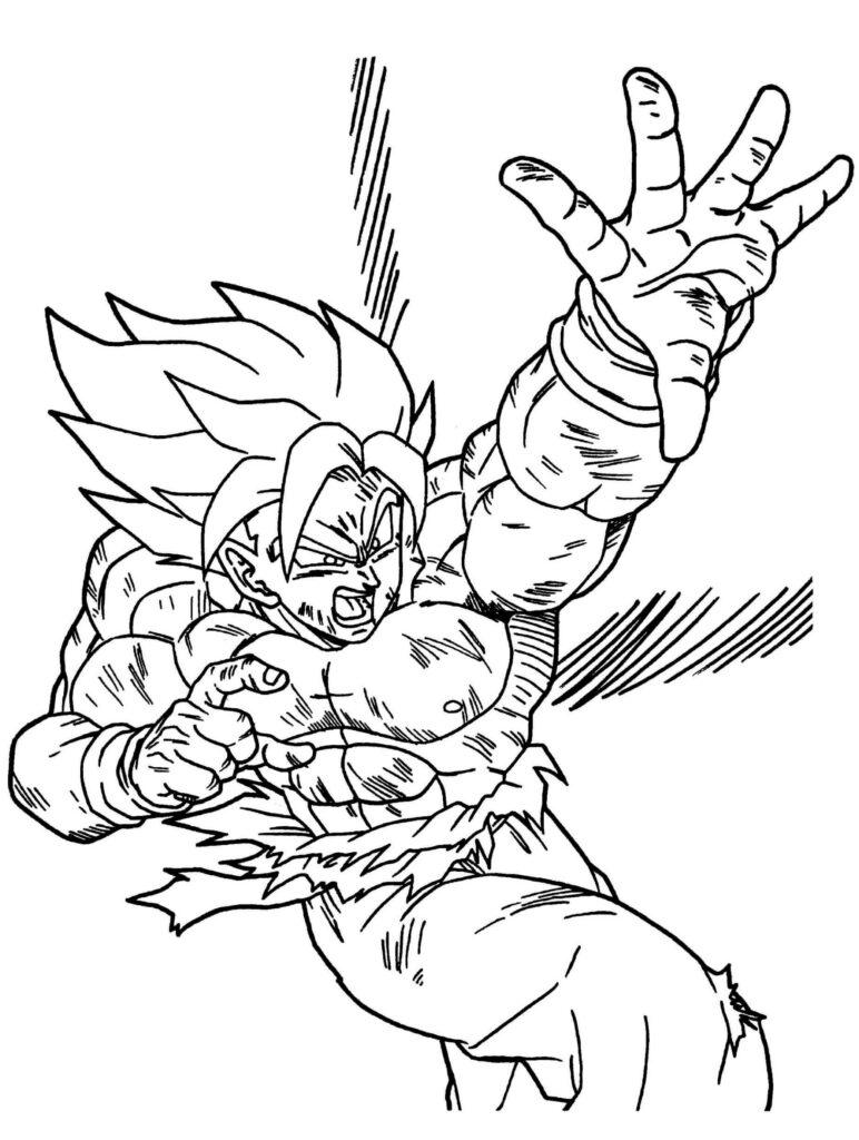 imagenes para dibujar a goku