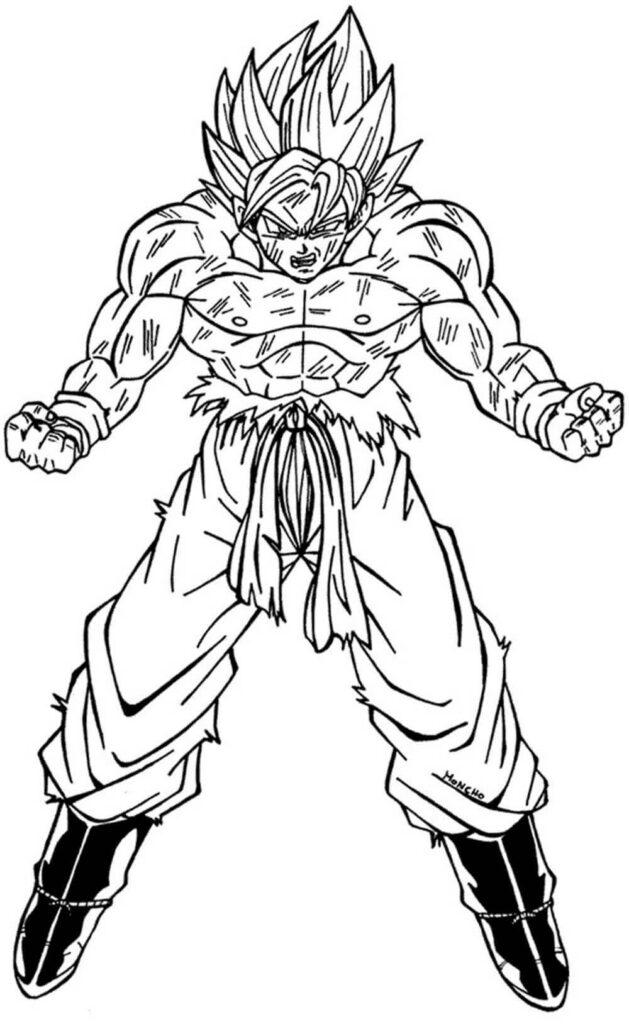 imagenes para dibujar de goku en mono
