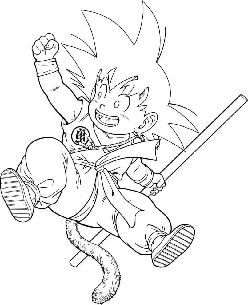 imagenes para dibujar de goku