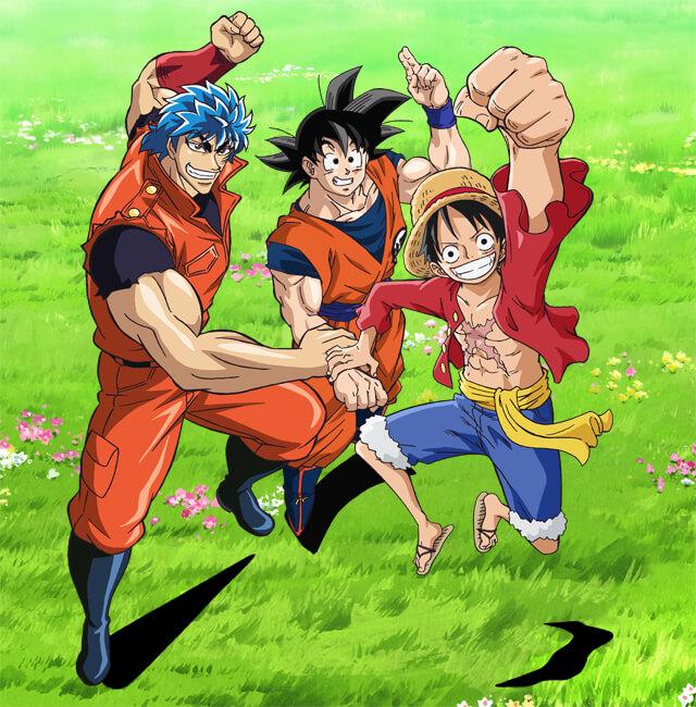 pelicula crossover dragon ball one peace y toriko