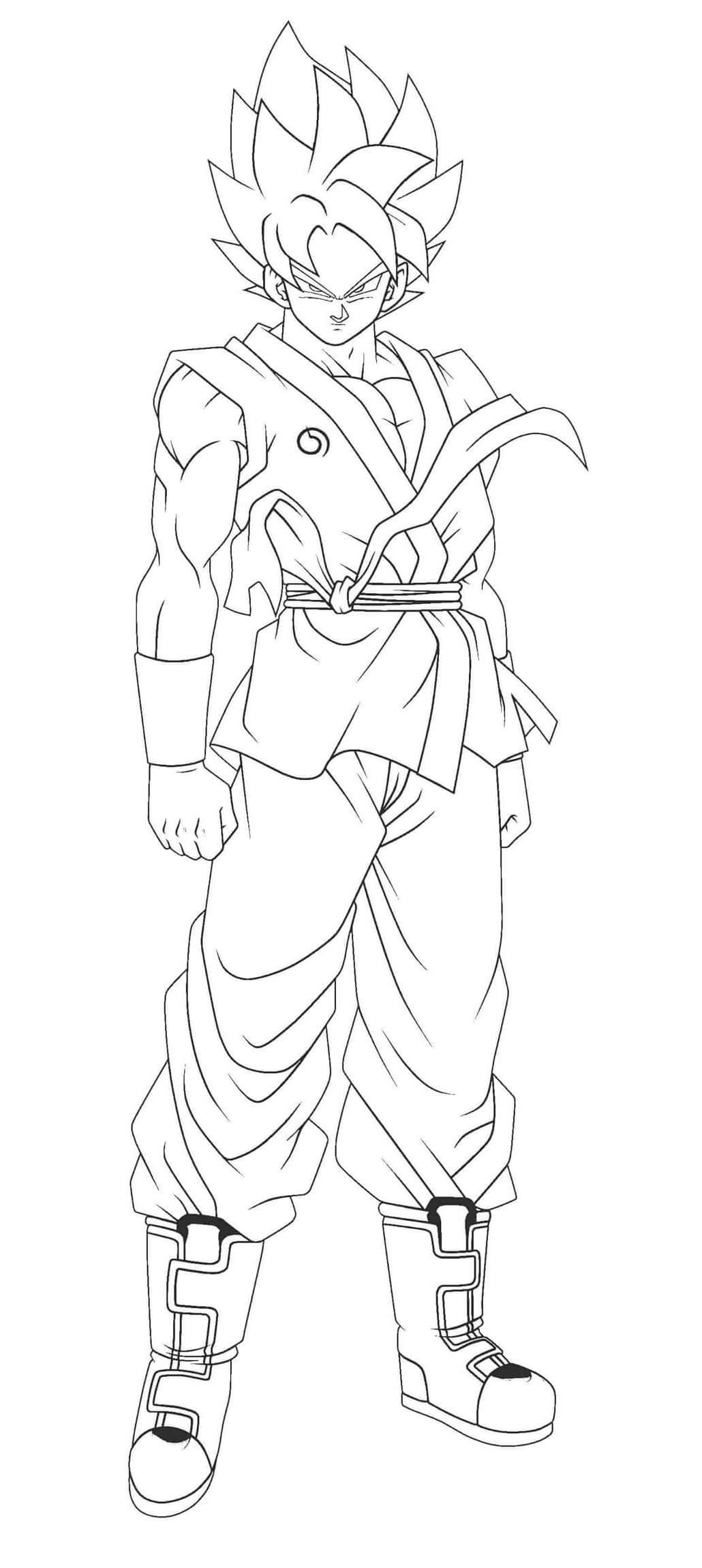 personajes de goku para colorear
