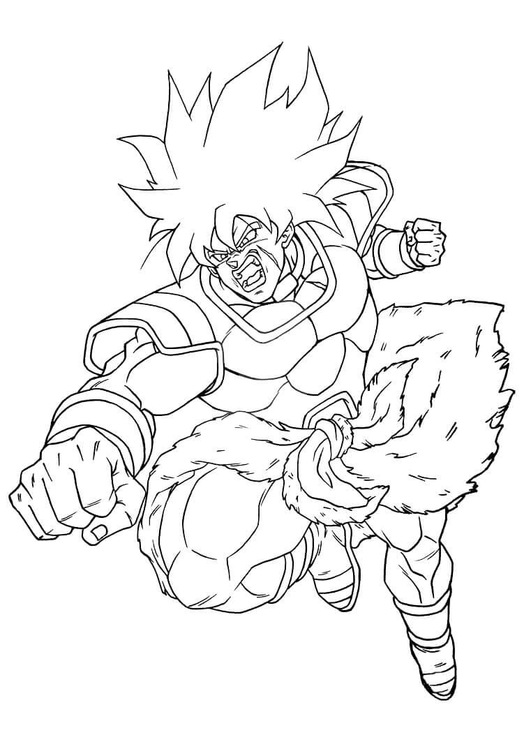 dibujos de dragon ball broly