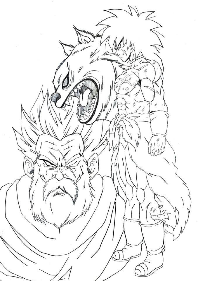 dibujos de dragon ball super broly 3