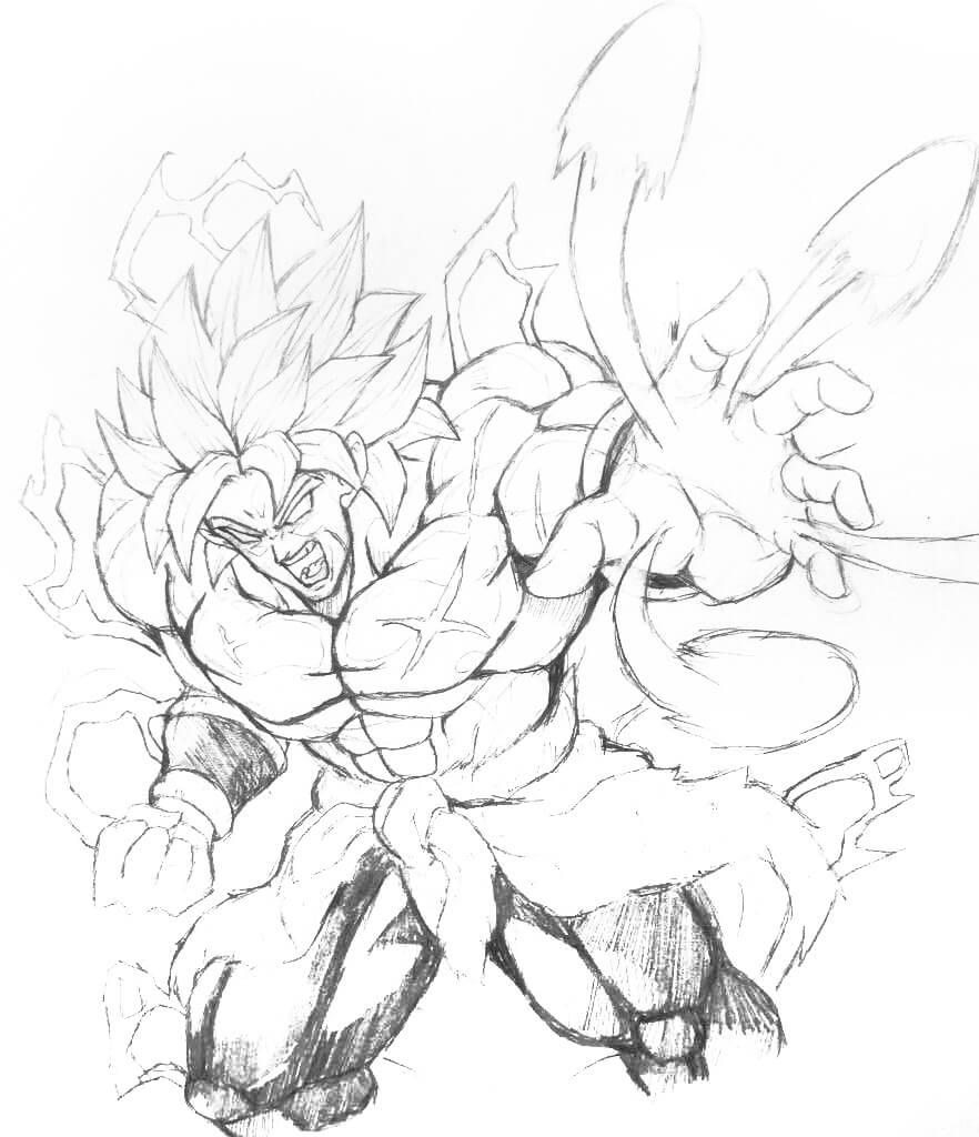 dibujos de dragon ball super broly para colorear
