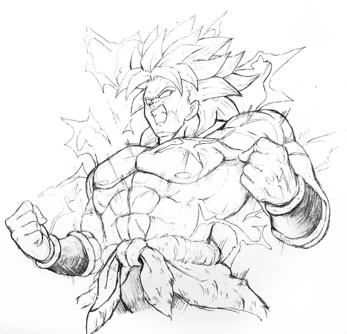 dibujos de dragon ball super broly