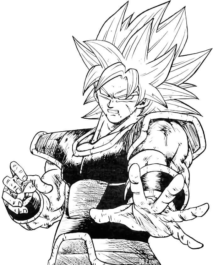 dibujos de dragon ball super canon broly