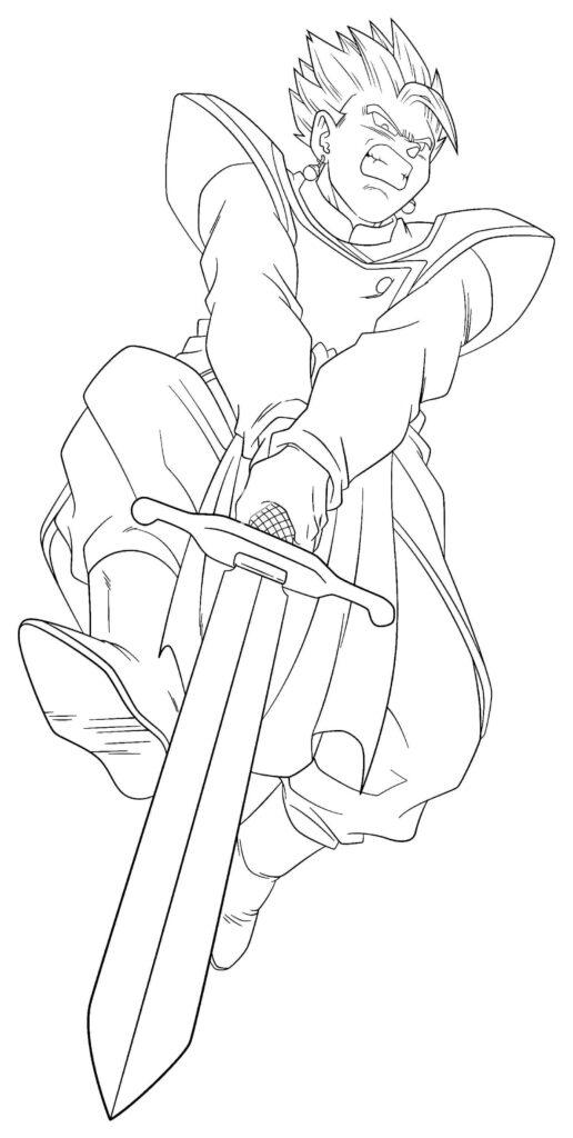 dibujos de gohan (10)