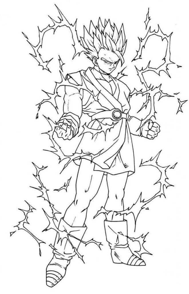 dibujos de gohan (8)