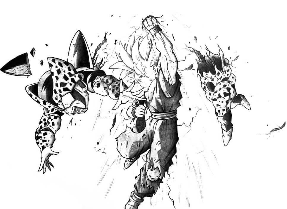 dibujos de gohan a lapiz (4)