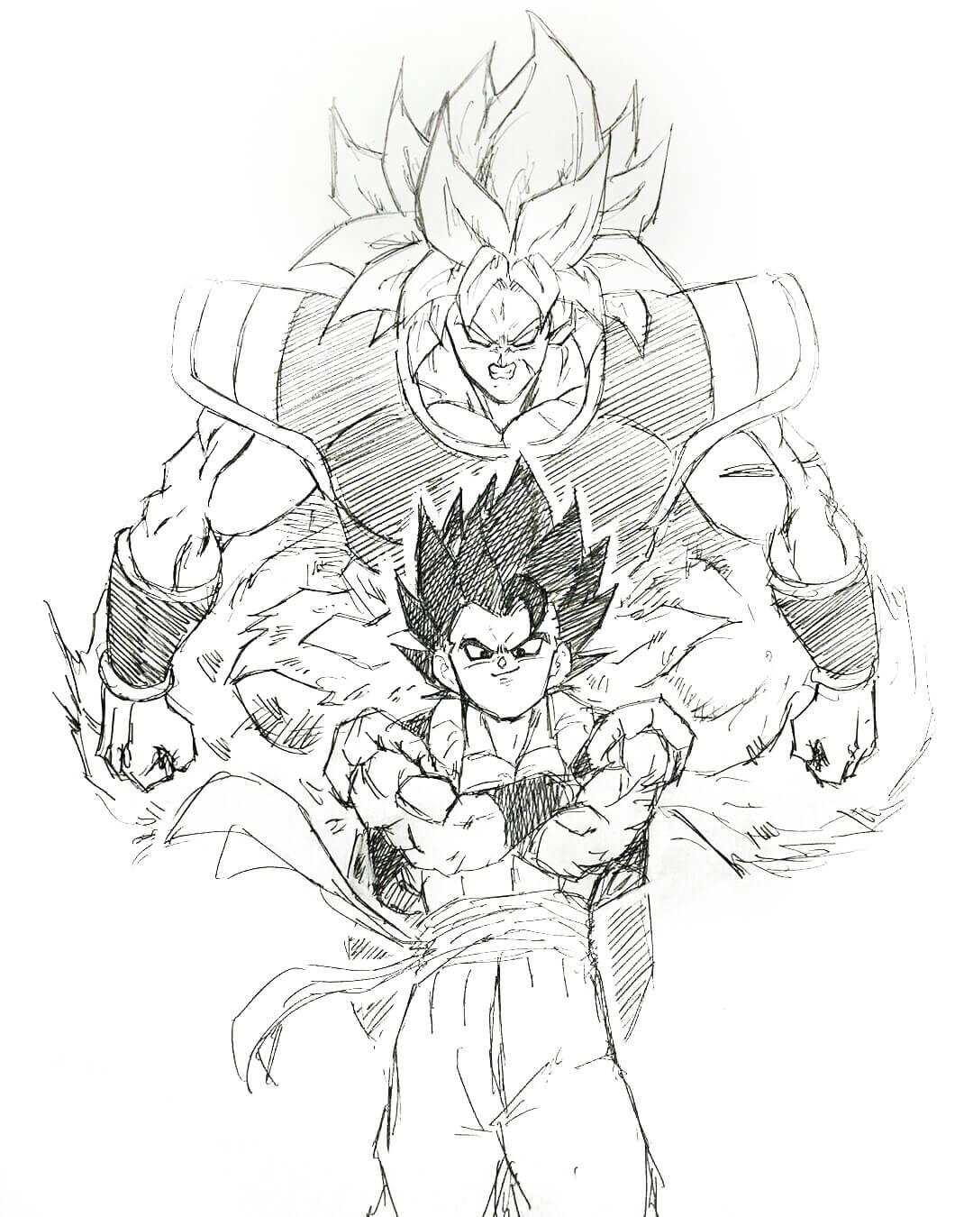 dragon ball super broly canon dibujos