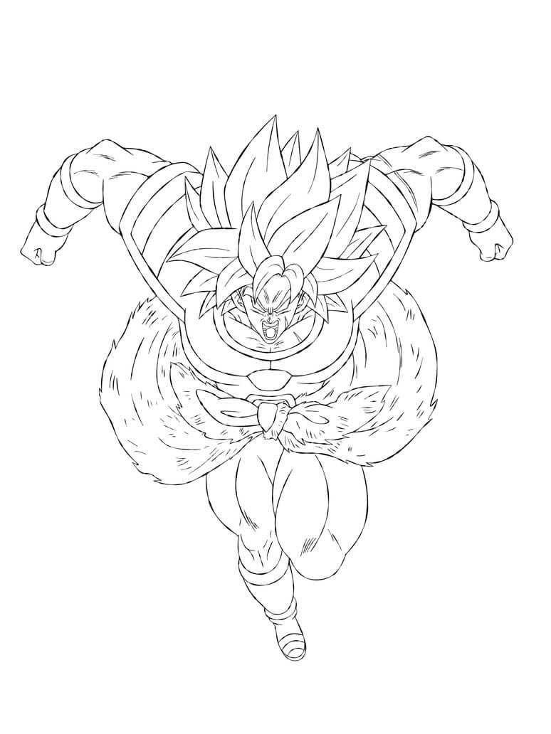 dragon ball super broly canon para dibujar
