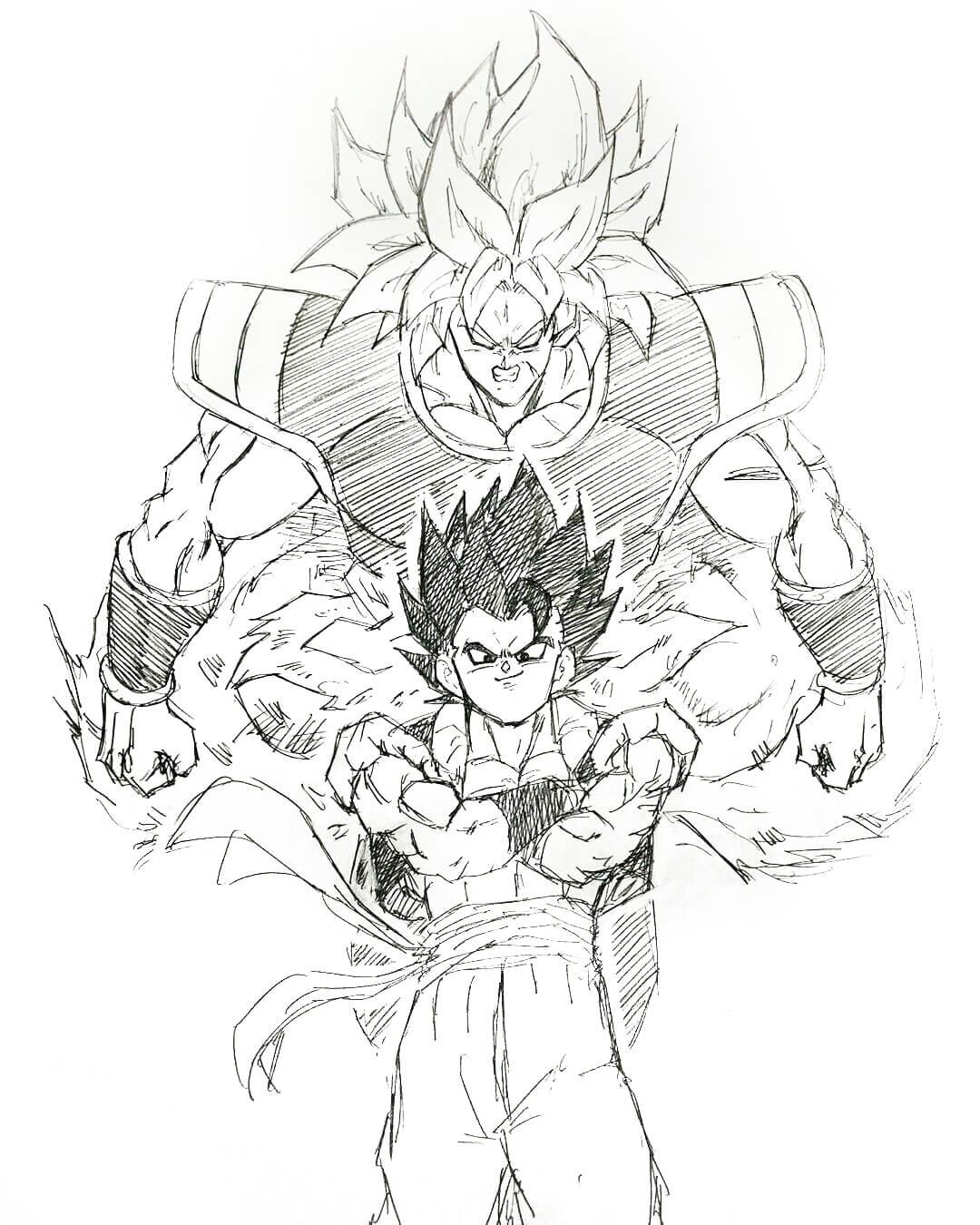 dragon ball super broly dibujos
