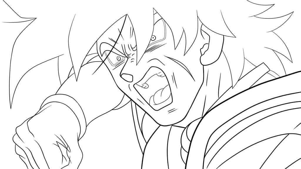 imagenes de dragon ball z para dibujar de broly