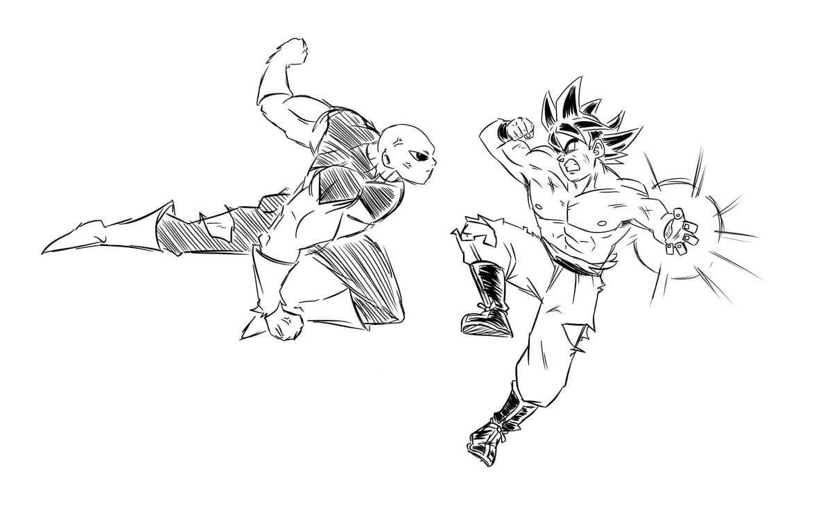 dibujos para colorear de dragon ball super jiren
