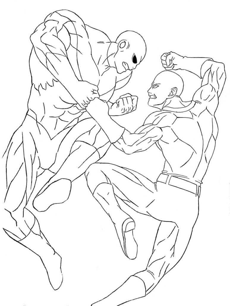 imagenes de dragon ball super para colorear de jiren