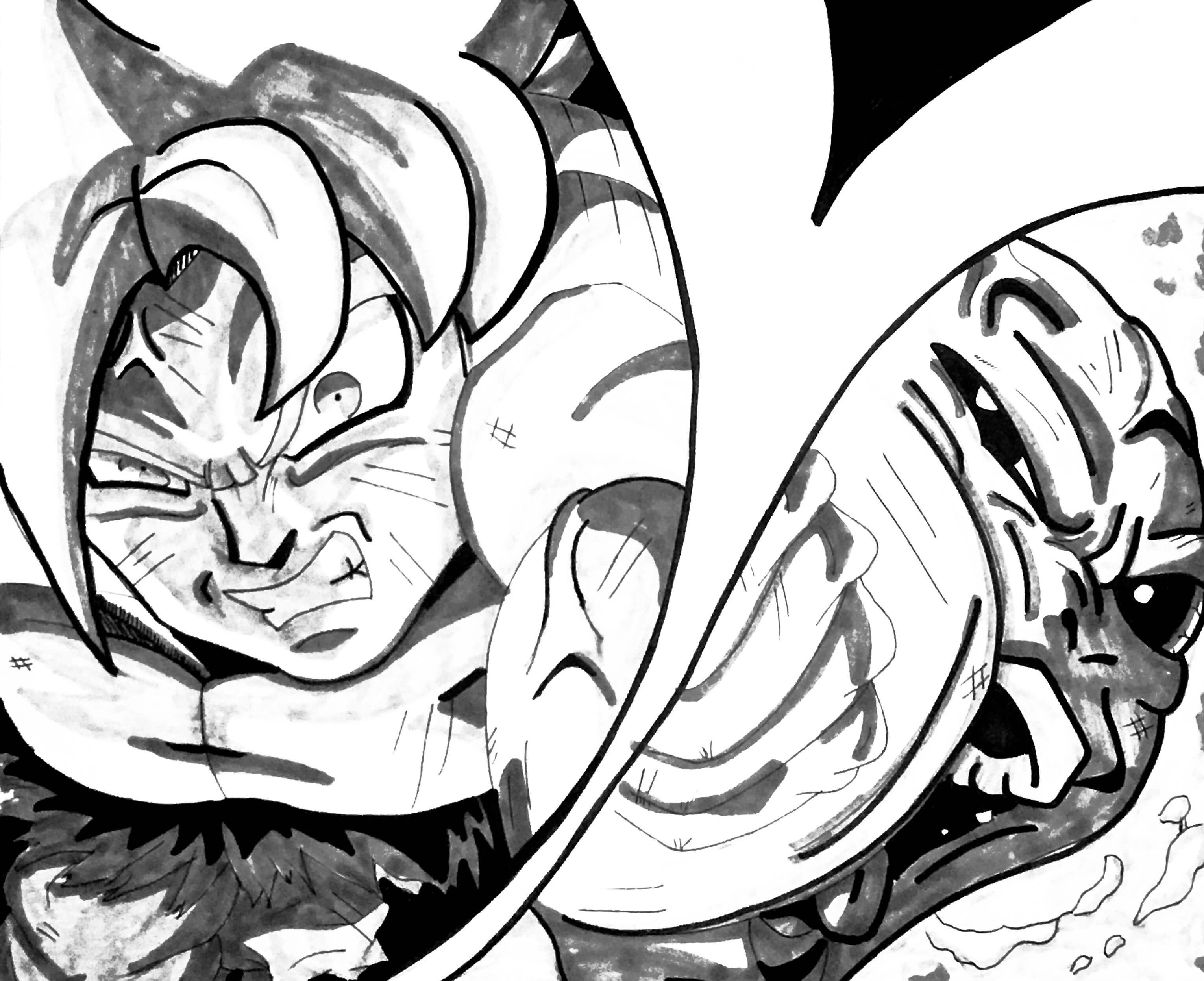 imágenes de goku y jiren para dibujar